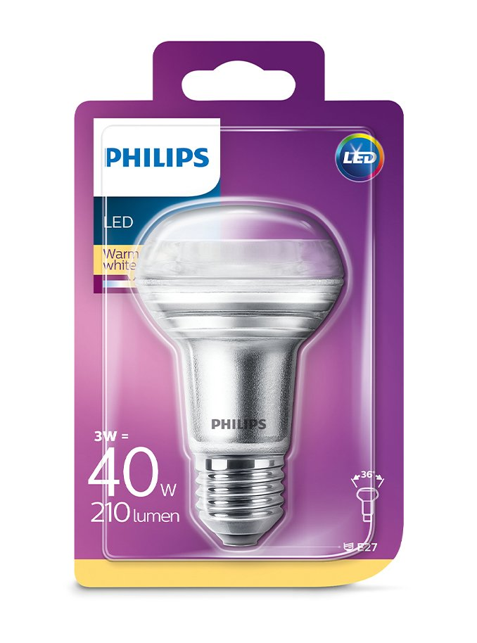 Image of   E27 - Philips LED Reflektor - 3W