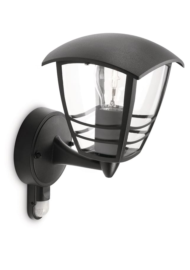 Image of   Philips myGarden Creek Væglampe Sort m. sensor