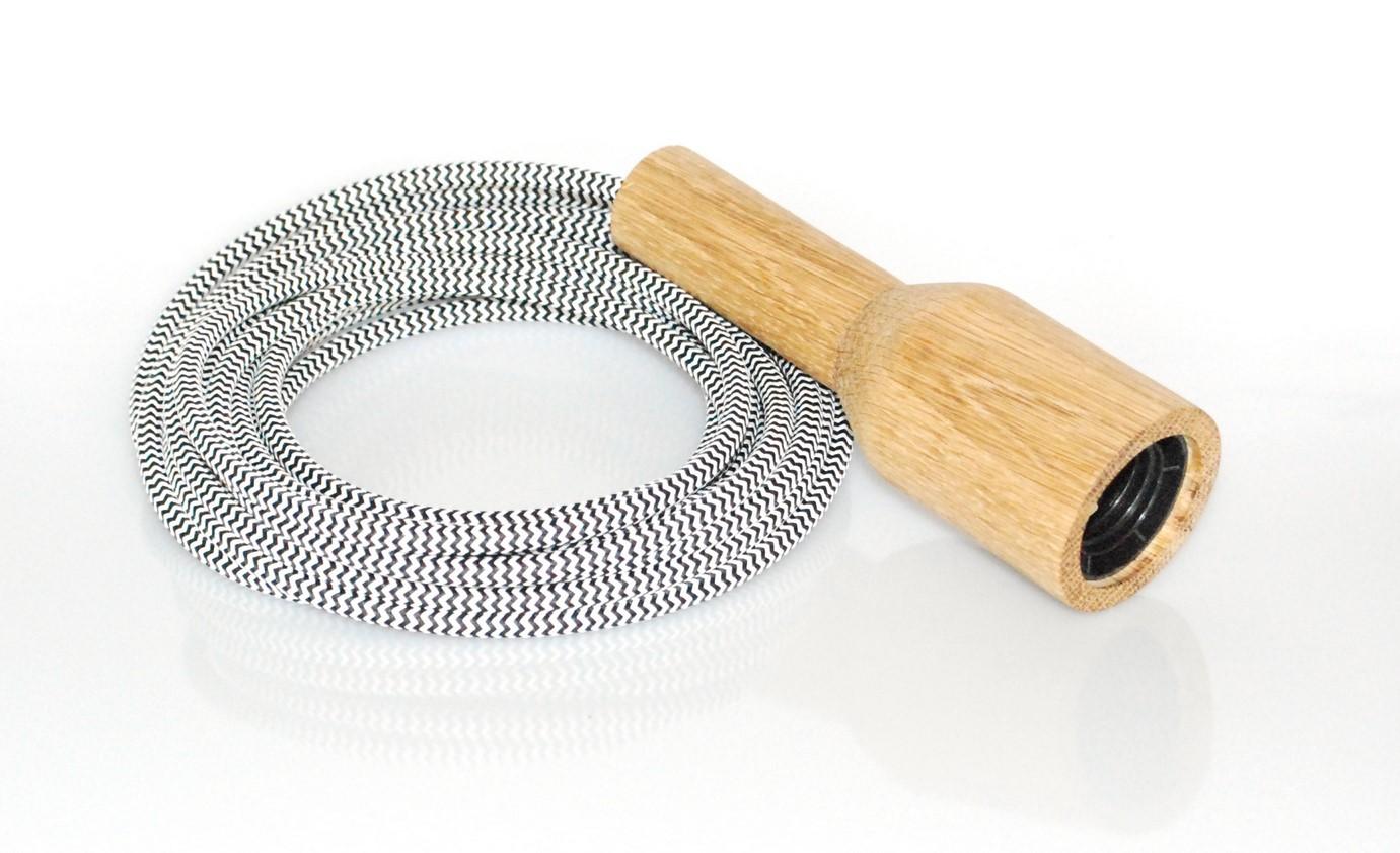 Image of   Dansk produceret pendellampe i træ inkl. E27 fatning