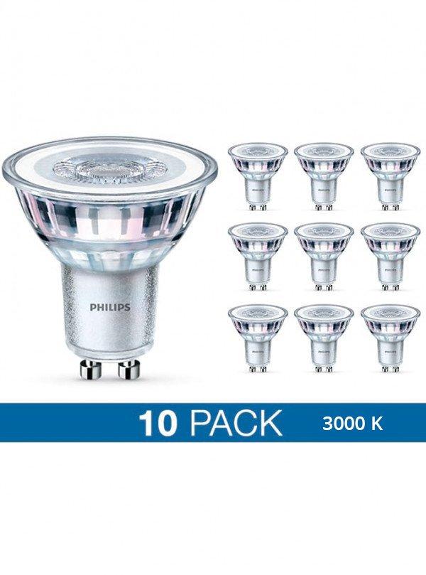 Image of   GU10 - Philips LED Spot - 4.6W - 10-pack - 3000K