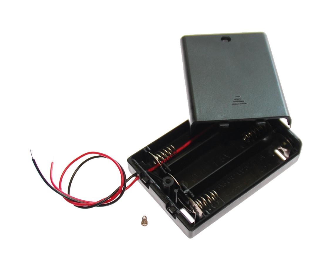 Image of   Batteriholder til 3xAA batterier