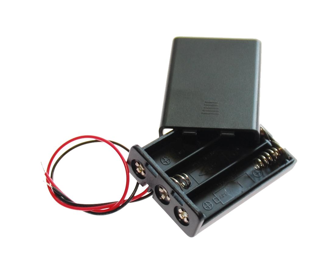 Image of   Batteriholder med låg til 3xAAA batterier
