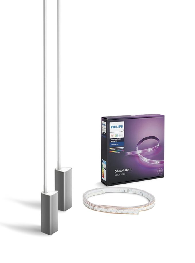 Image of   Philips Hue Gaming - 2 x Signe Gulvlampe + LightStrip