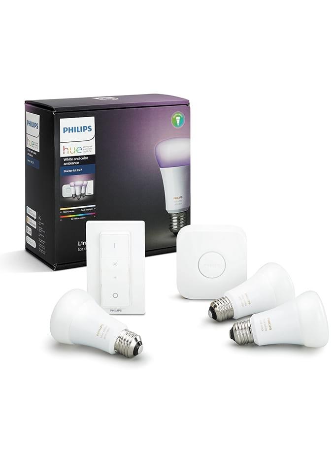 Image of   E27 - Philips Hue Farvet Starter Kit + Motion sensor
