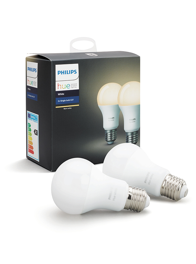 Image of   Philips Hue White LED pære - E27 2-PACK