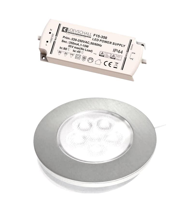 Image of   ID-LED Indbygningsspot 2,5W Varm Hvid 3000K Ra92 - Rustfri Stål