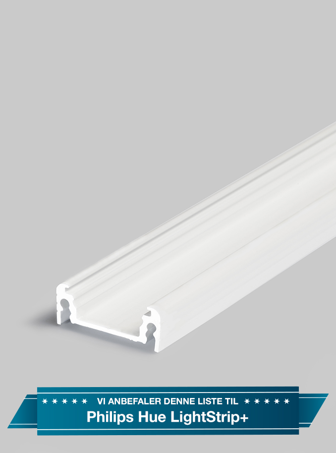 Image of Aluminiumsprofil - Model S til Philips Hue LightStrip Plus