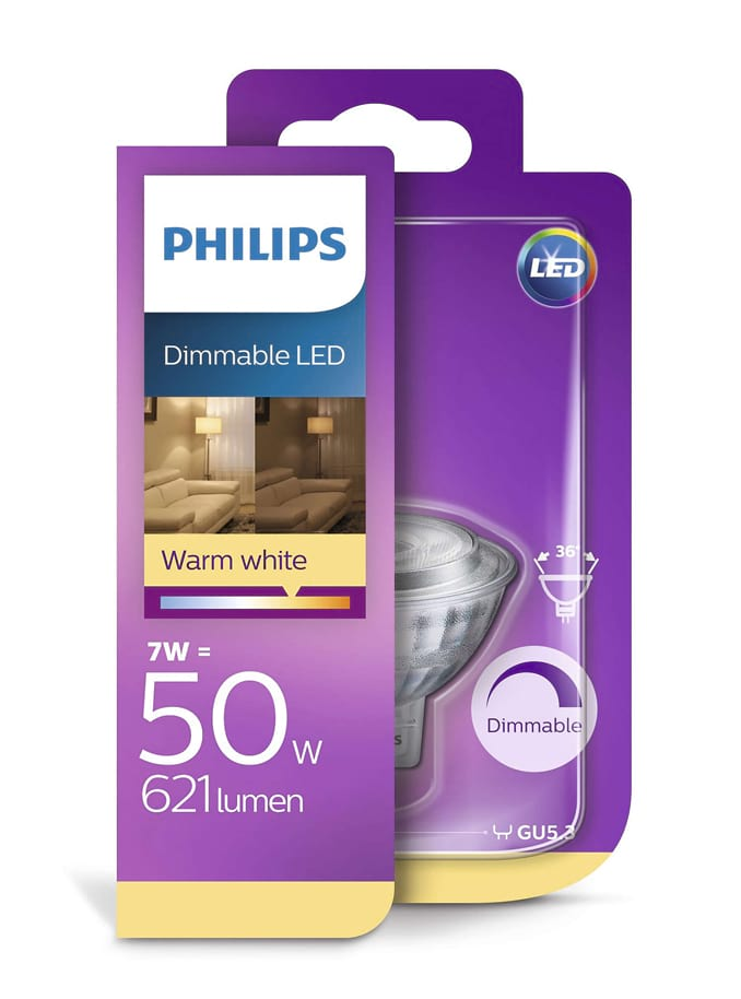 Image of   MR16 - Philips LED spot - 7W (dæmpbar)