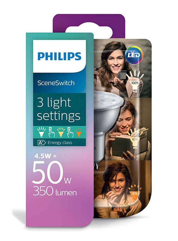 Image of   GU10 - Philips SceneSwitch Spot - 3 indstillinger
