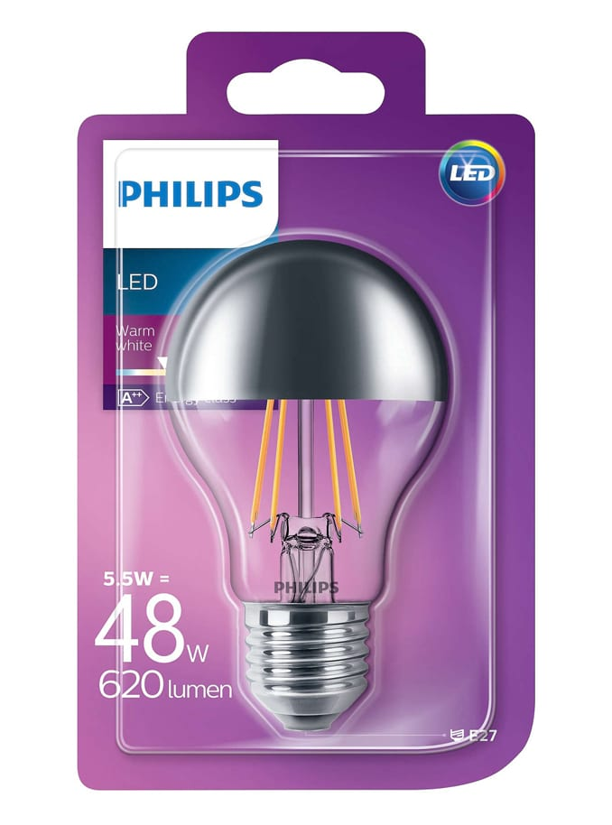 Image of   E27 - PHILIPS - 5,5W - Topforspejlet