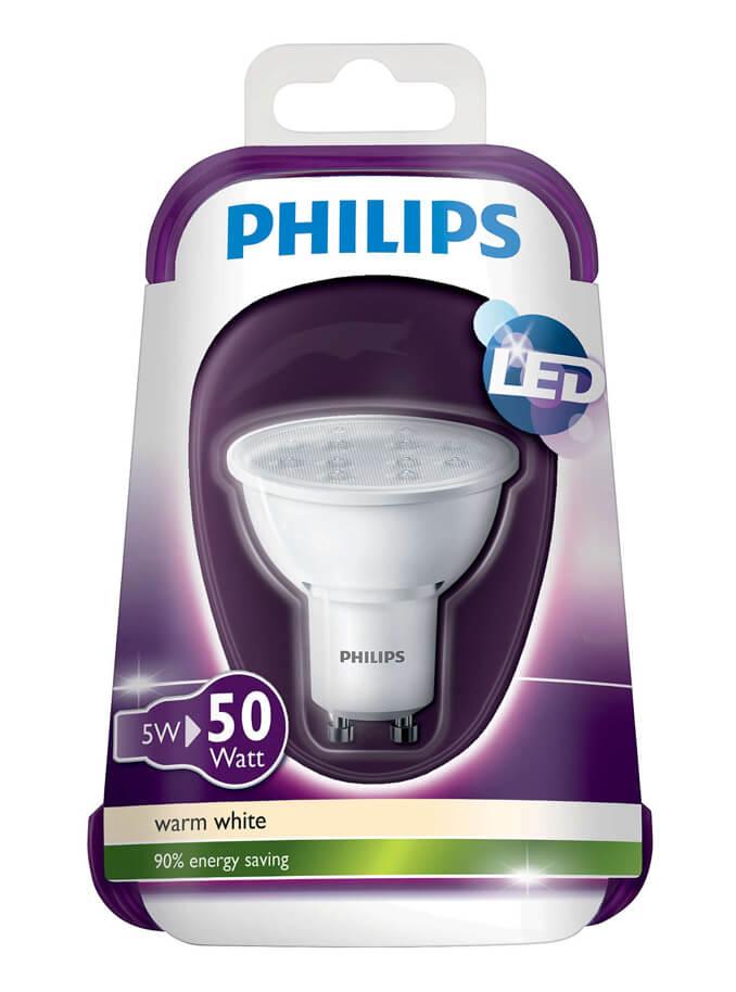 Billede af GU10 - PHILIPS LED Spot - 5W - 3000K
