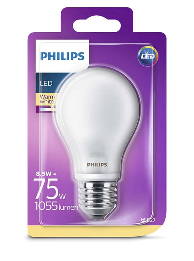 Image of   E27 - Philips Classic LED - 8,5W