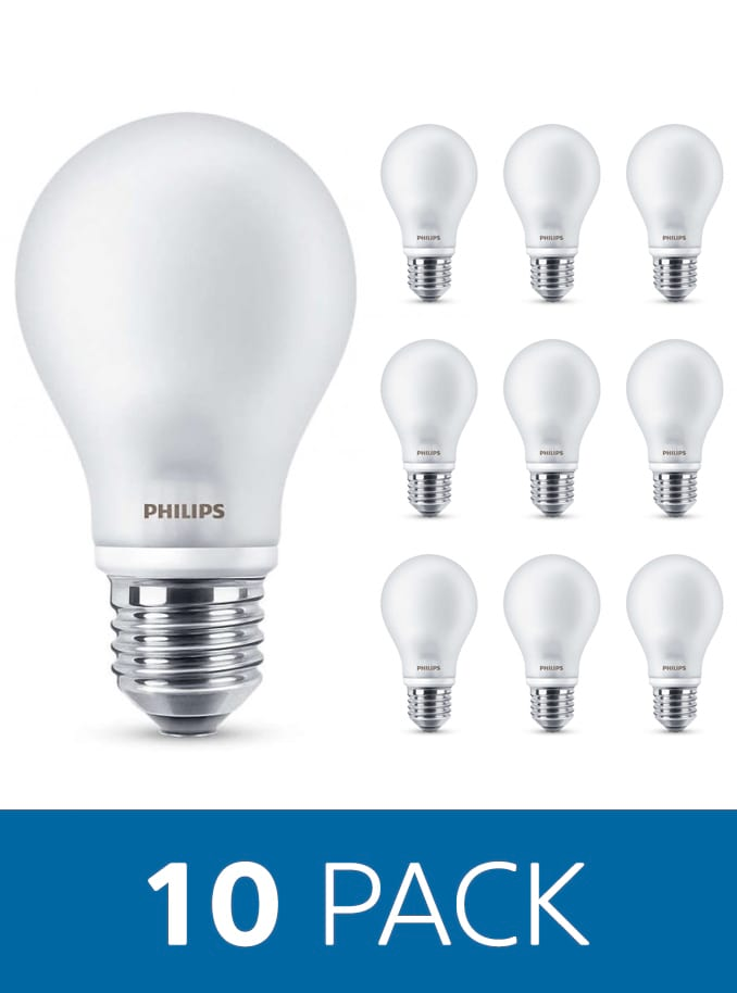 Image of   E27 - Philips Classic LED - 4,5W - 10 Pack
