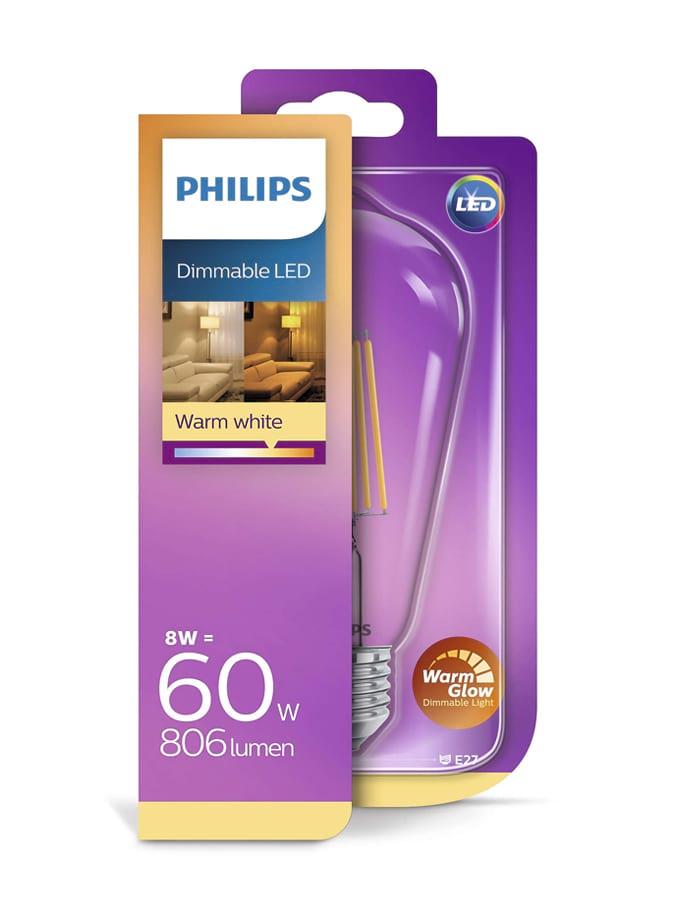 Image of   E27 - Philips Edison LED - 8W - Warm Glow