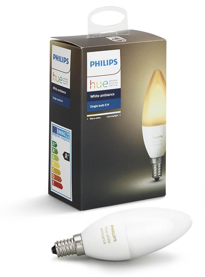 Image of   Philips Hue Ambiance LED pære - E14 Kerte