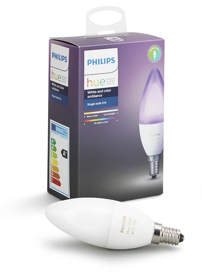 Image of   Philips Hue Farvet LED pære - E14 Kerte