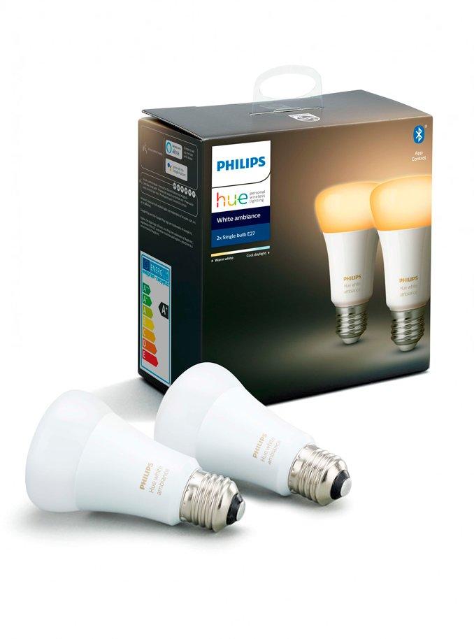 Image of   Philips Hue Ambiance LED pære - E27 2-PACK - BT