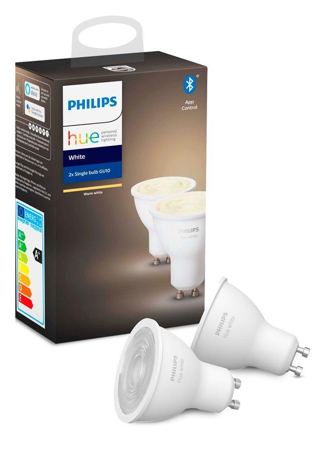 Image of   Philips Hue White LED spot - GU10 2-pack - BT