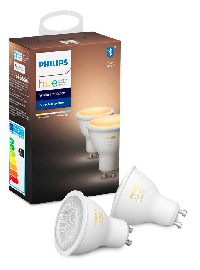 Billede af Philips Hue White Ambiance LED spot - GU10 2-pack - BT