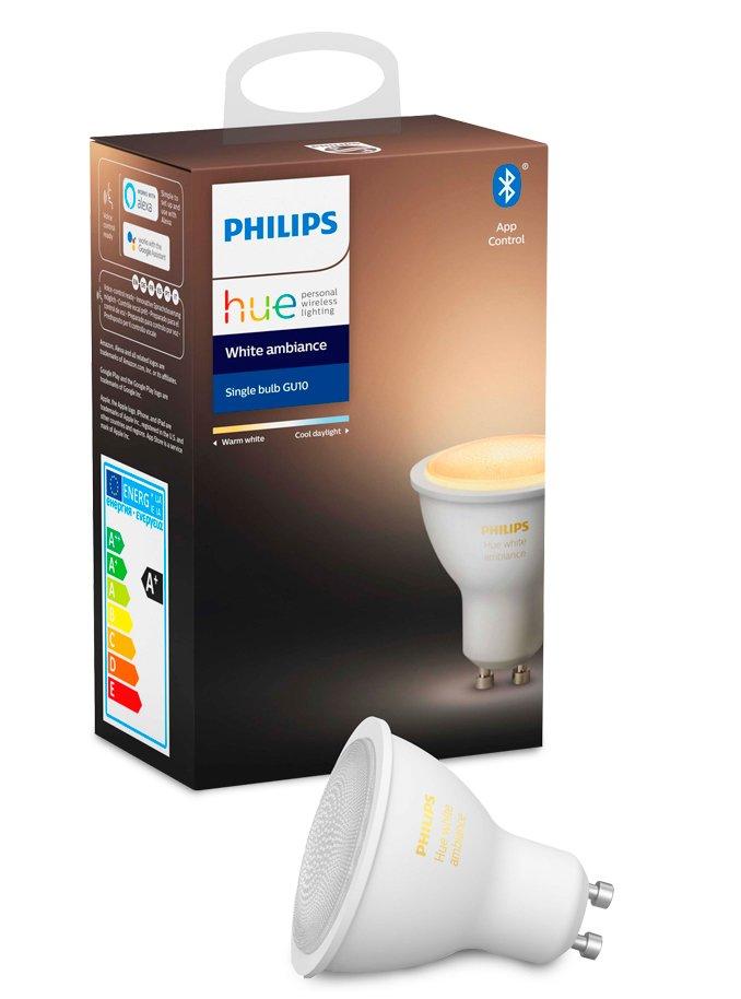 Image of   Philips Hue White Ambiance LED spot - GU10 - BT