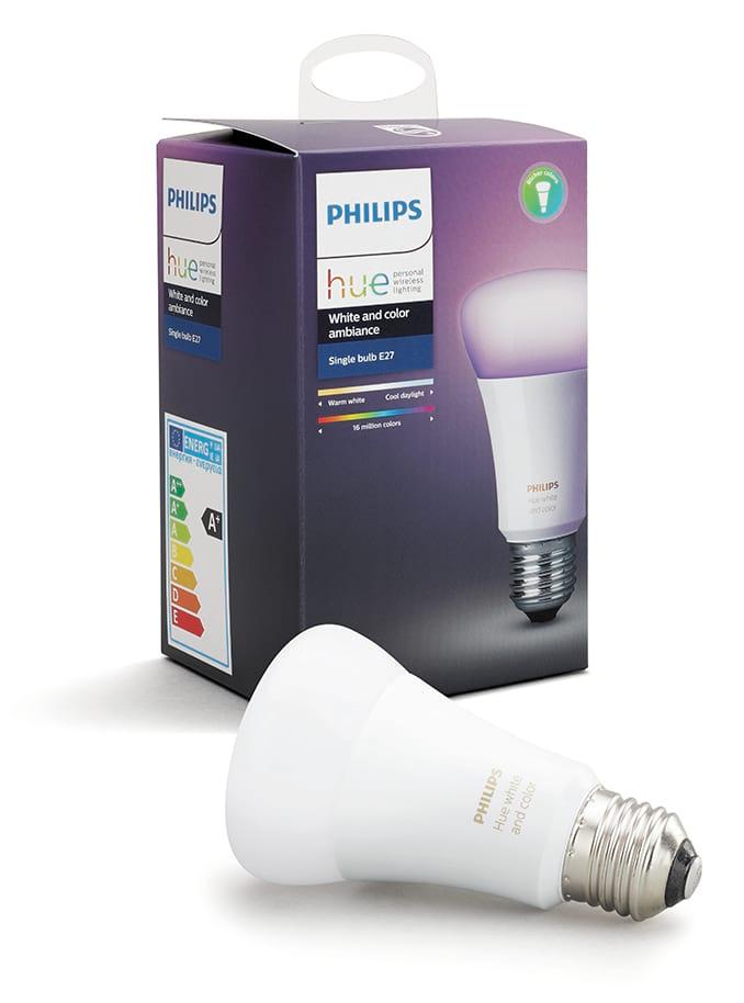 Image of   Philips Hue LED pære - E27 Farvet - Uden BT