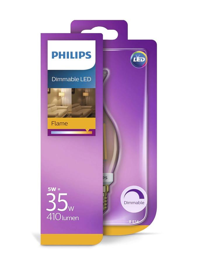 Image of   E14 - Philips Kerte LED (flamme) - 5W