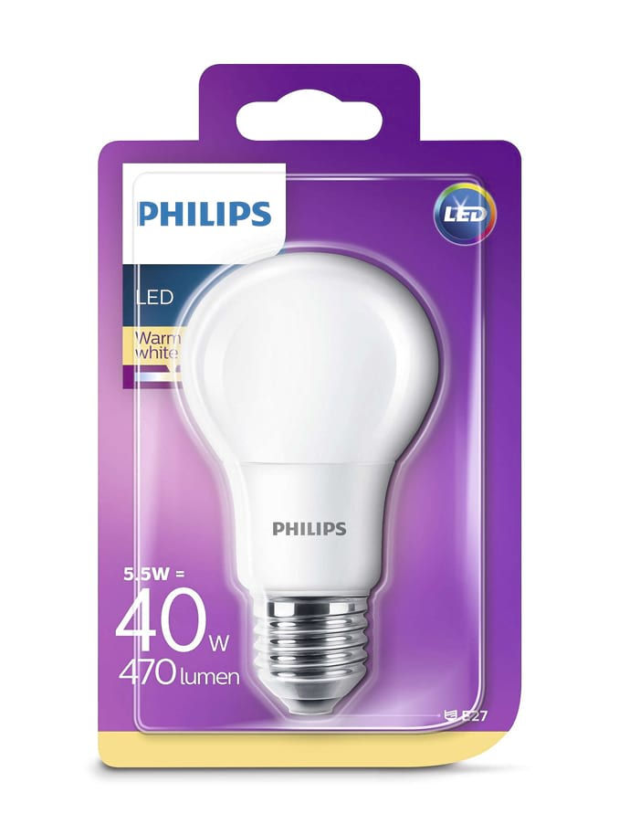 Image of   E27 - Philips LED - 5.5W