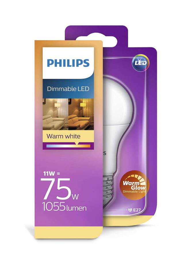 Image of   E27 - Philips LED - 11W - Warm Glow (Dæmpbar)