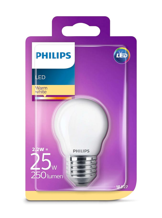 Image of   E27 - Philips LED Krone Pære - 2.2W