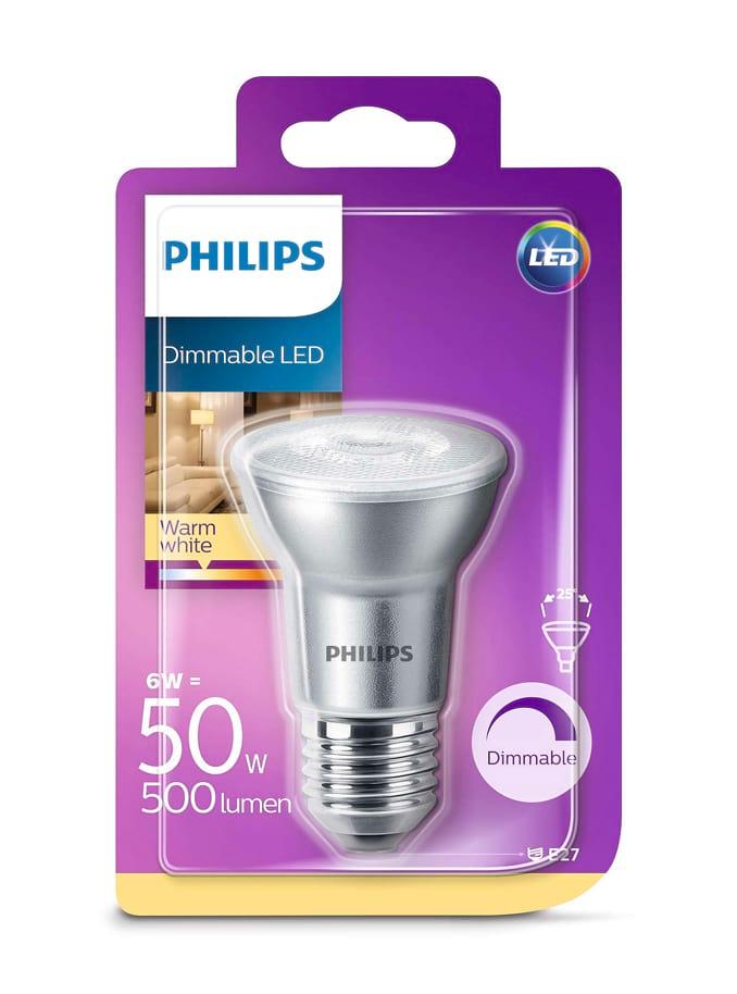 Image of   E27 - Philips LED Reflektor - 6W