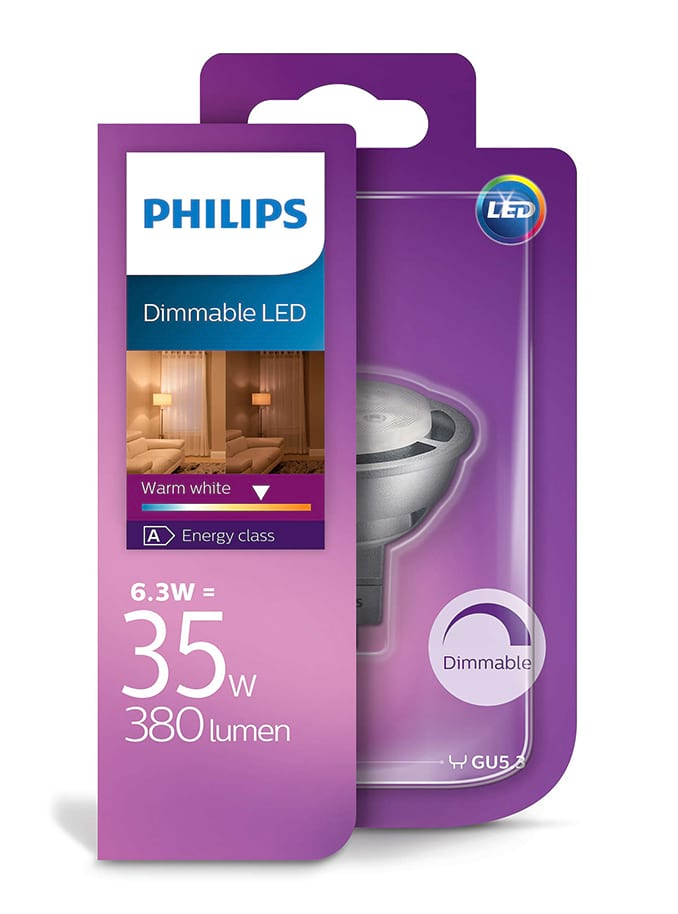 Image of   MR16 - PHILIPS LED Spot - 6.3W - Dæmpbar
