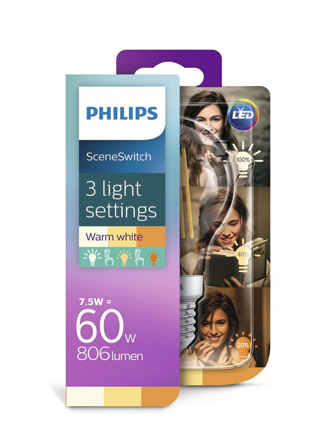 Image of   E27 - Philips SceneSwitch LED - 7.5W