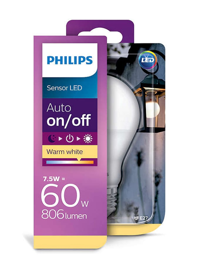 Image of   E27 - Philips sensor LED - 7.5W - Auto on/off