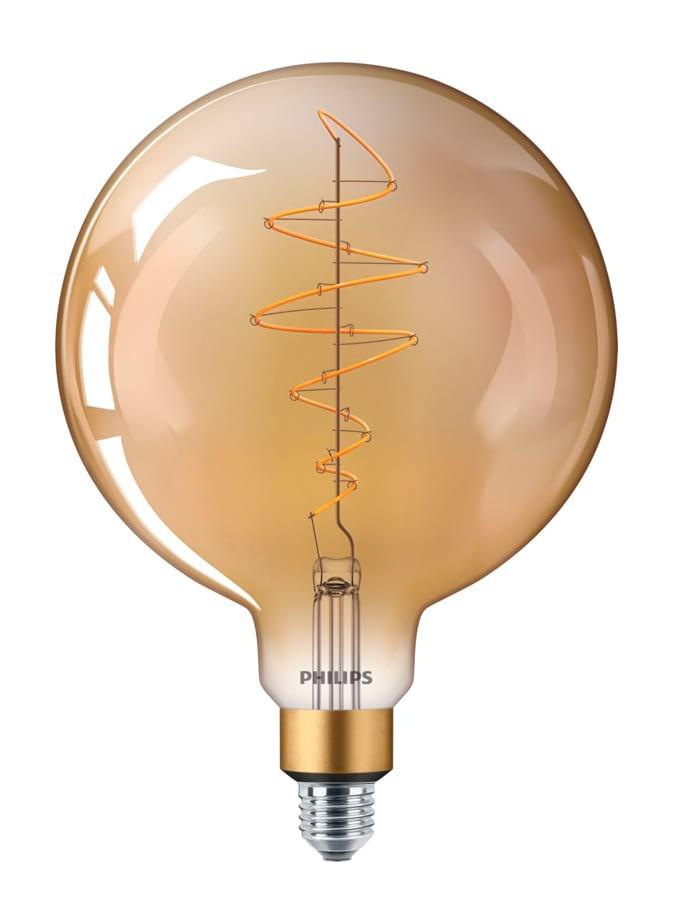 Image of   E27 - Philips Vintage Globe LED - 6.5W (Gylden)