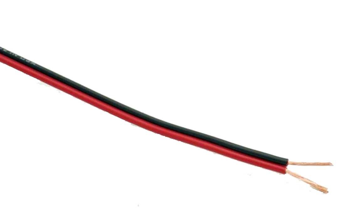 Image of   10m Hvid/Hvid ledning m. 2 leder