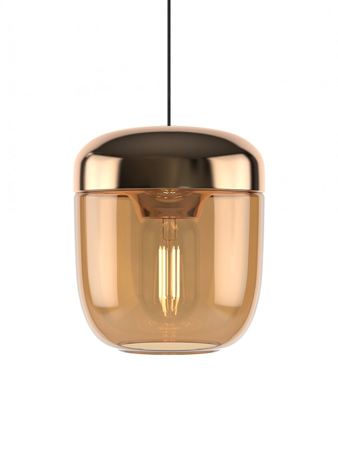 Image of   UMAGE Acorn Pendel - Amber Brass